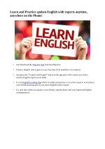 learn and practice spoken english with experts