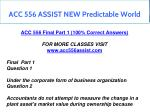 acc 556 assist new predictable world 16