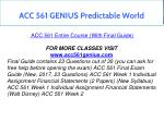 acc 561 genius predictable world 1