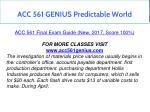 acc 561 genius predictable world 2