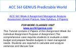acc 561 genius predictable world 26