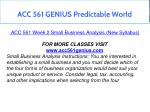 acc 561 genius predictable world 9