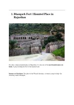 1 bhangarh fort haunted place in rajasthan