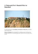 4 nahargarh fort haunted place in rajasthan