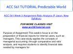 acc 561 tutorial predictable world 10
