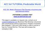 acc 561 tutorial predictable world 11