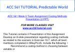 acc 561 tutorial predictable world 24