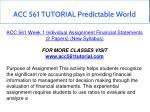 acc 561 tutorial predictable world 4