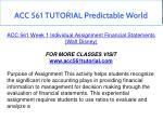 acc 561 tutorial predictable world 5