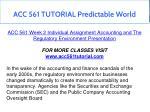acc 561 tutorial predictable world 7