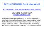 acc 561 tutorial predictable world 9