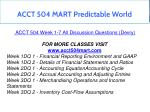 acct 504 mart predictable world 10