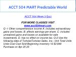 acct 504 mart predictable world 14