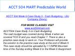 acct 504 mart predictable world 19