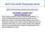 acct 504 mart predictable world 7