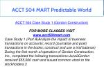 acct 504 mart predictable world