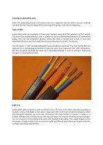 choosing a submersible cable given the demanding