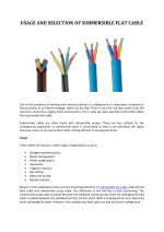 usage and selection of submersible flat cable