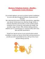 business telephone system bundles commander