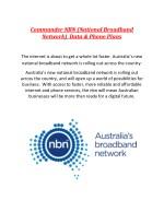 commander nbn national broadband network data
