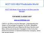 acct 505 help predictable world 14