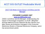 acct 505 outlet predictable world 14