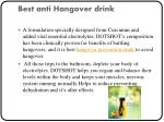 best anti hangover drink