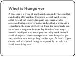 what is hangover