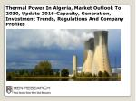 thermal power in algeria market outlook to 2030