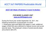 acct 567 papers predictable world 7