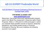 ajs 522 expert predictable world 16