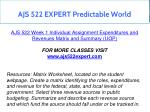 ajs 522 expert predictable world 3