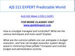 ajs 522 expert predictable world 8