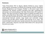 summary solar photovoltaic pv in algeria market