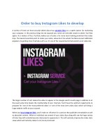 order to buy instagram likes to develop