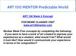 art 100 mentor predictable world 10