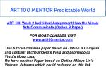 art 100 mentor predictable world 5
