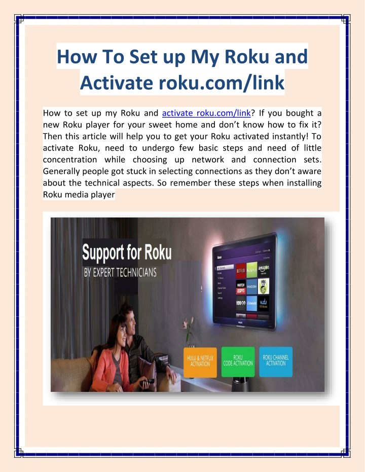 how to set up my roku and activate roku com link n.