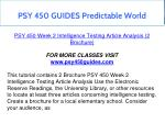 psy 450 guides predictable world 7