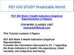 psy 450 study predictable world 14