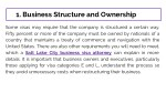 1 business structure and ownership