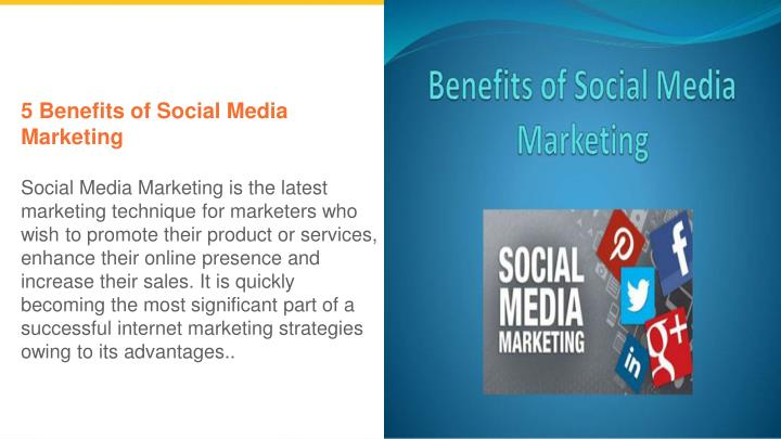 5 benefits of social media marketing social media n.