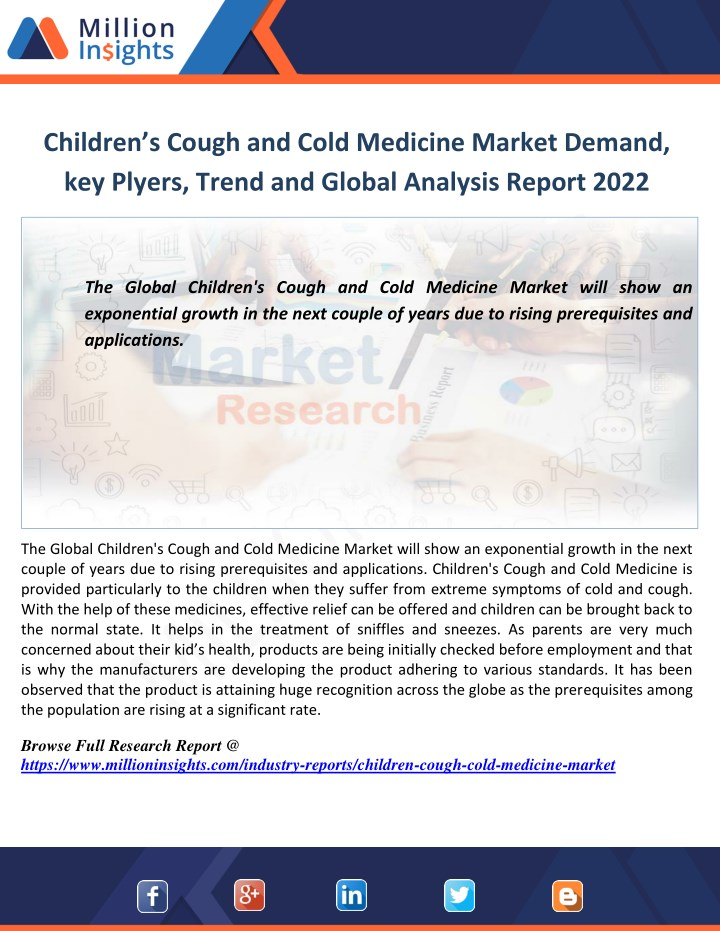 children s cough and cold medicine market demand n.