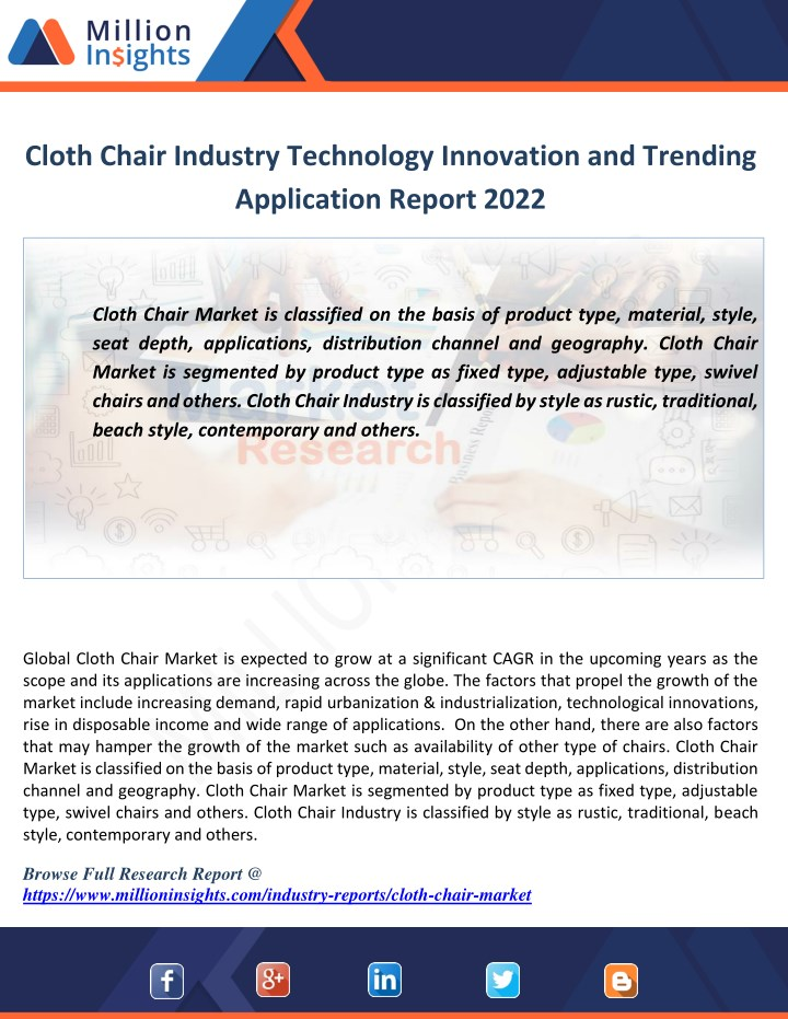 cloth chair industry technology innovation n.