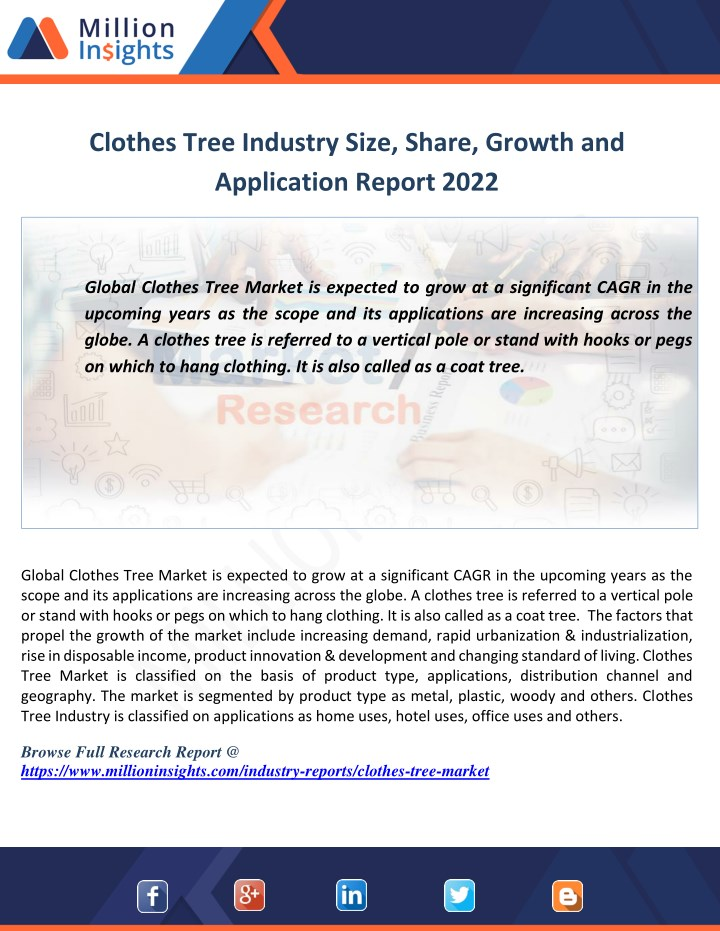 clothes tree industry size share growth n.