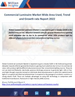 commercial luminaire market wide area used trend