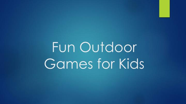 fun outdoor games for kids n.