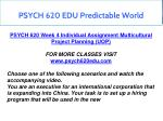 psych 620 edu predictable world 5