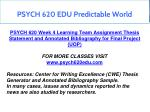 psych 620 edu predictable world 6
