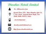 diwakar retail limited